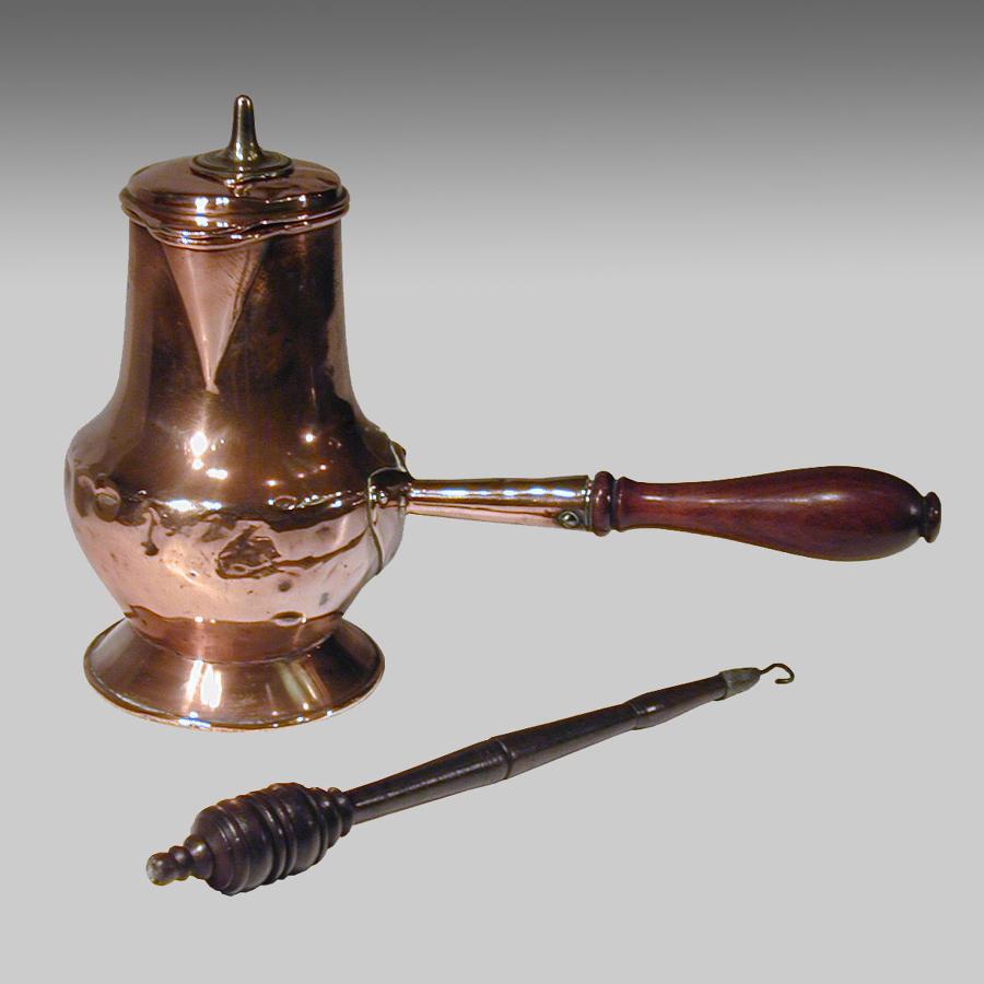 Rare antique 18th century copper chocolate pot