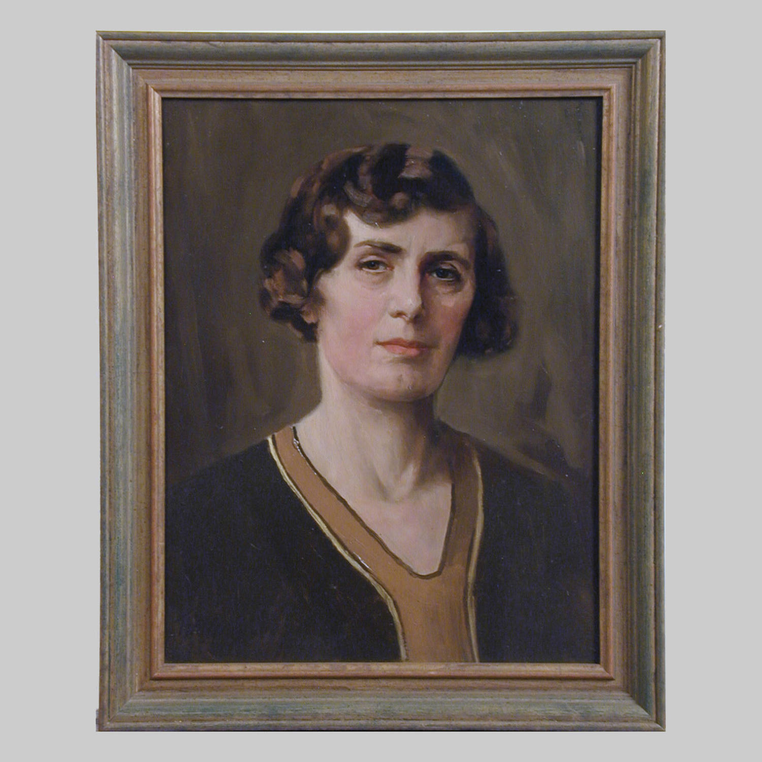 Portrait oil painting on canvas of Rosa Byass by T.Alfred West.