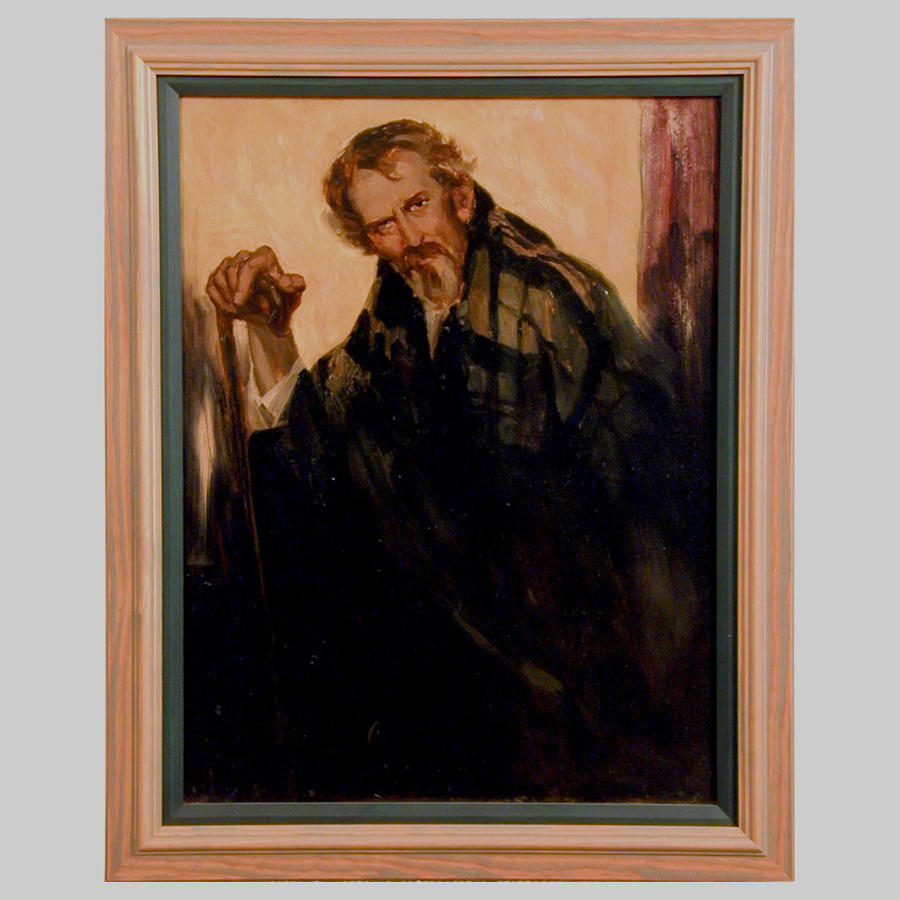 Oil painting portrait of 'The Old Shepherd' by T.Alfred West