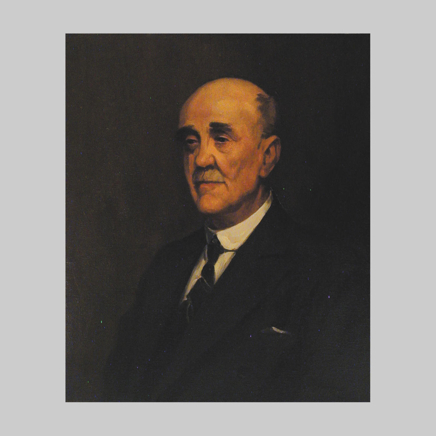 Studio portrait, oil painting, Sir James Sexton MP by T.Alfred West