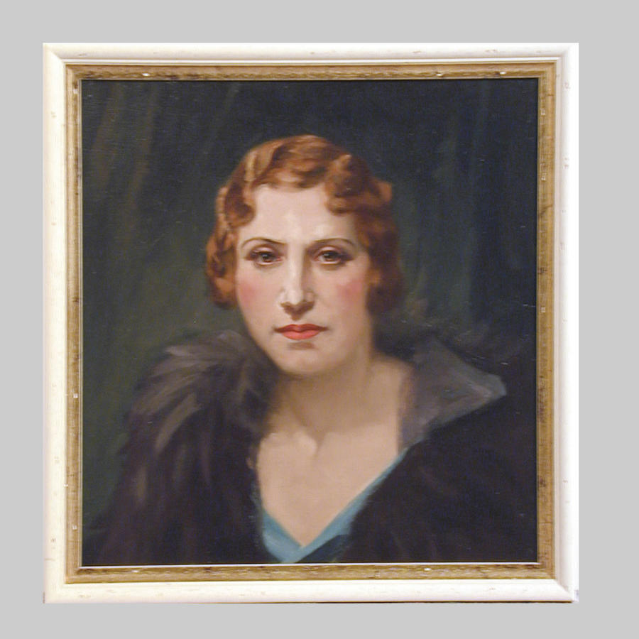 Striking studio portrait of the 'Titian Lady' by T.Alfred West
