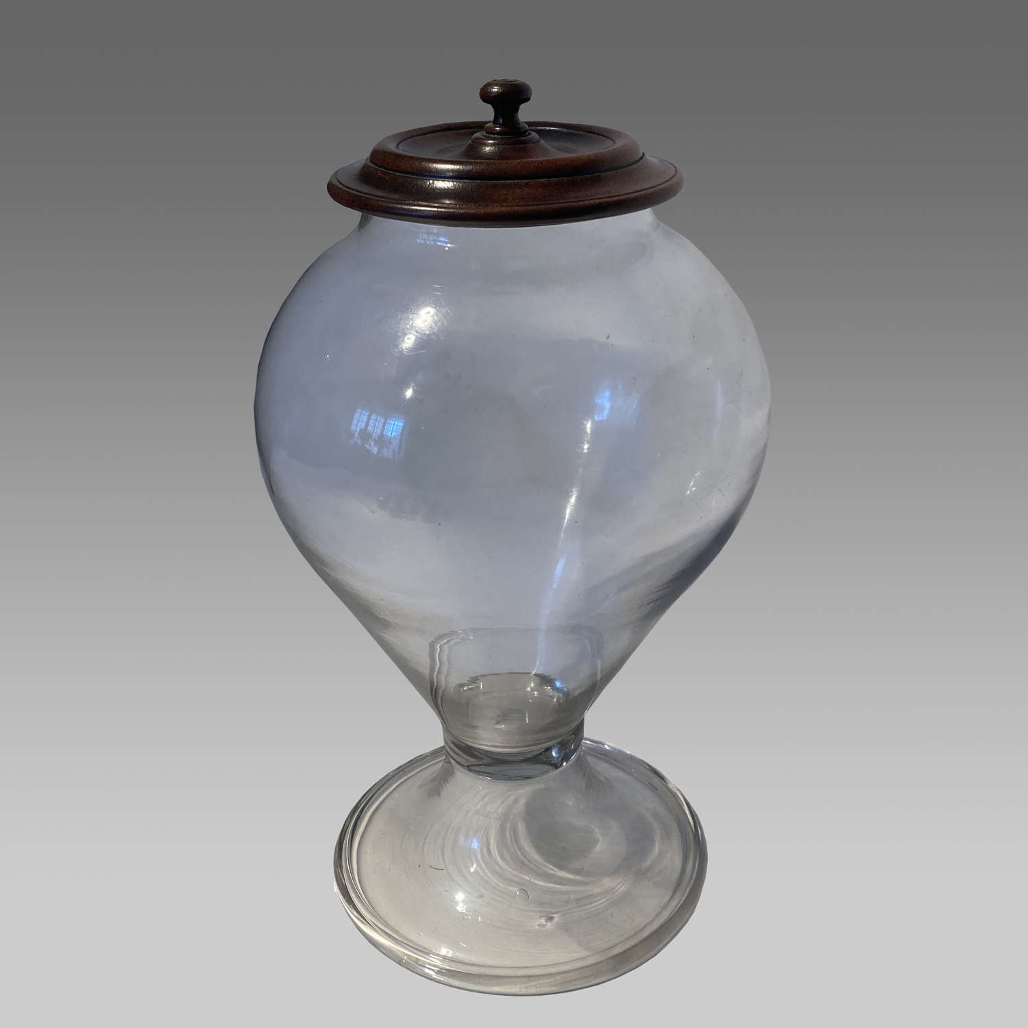 19th century apothecary's glass leech jar