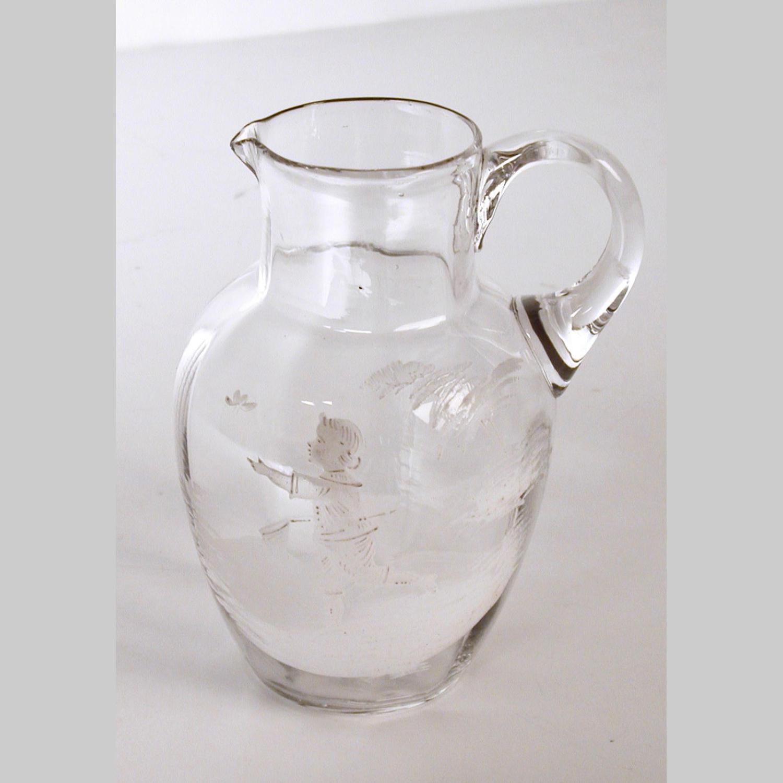 Bohemian glass jug