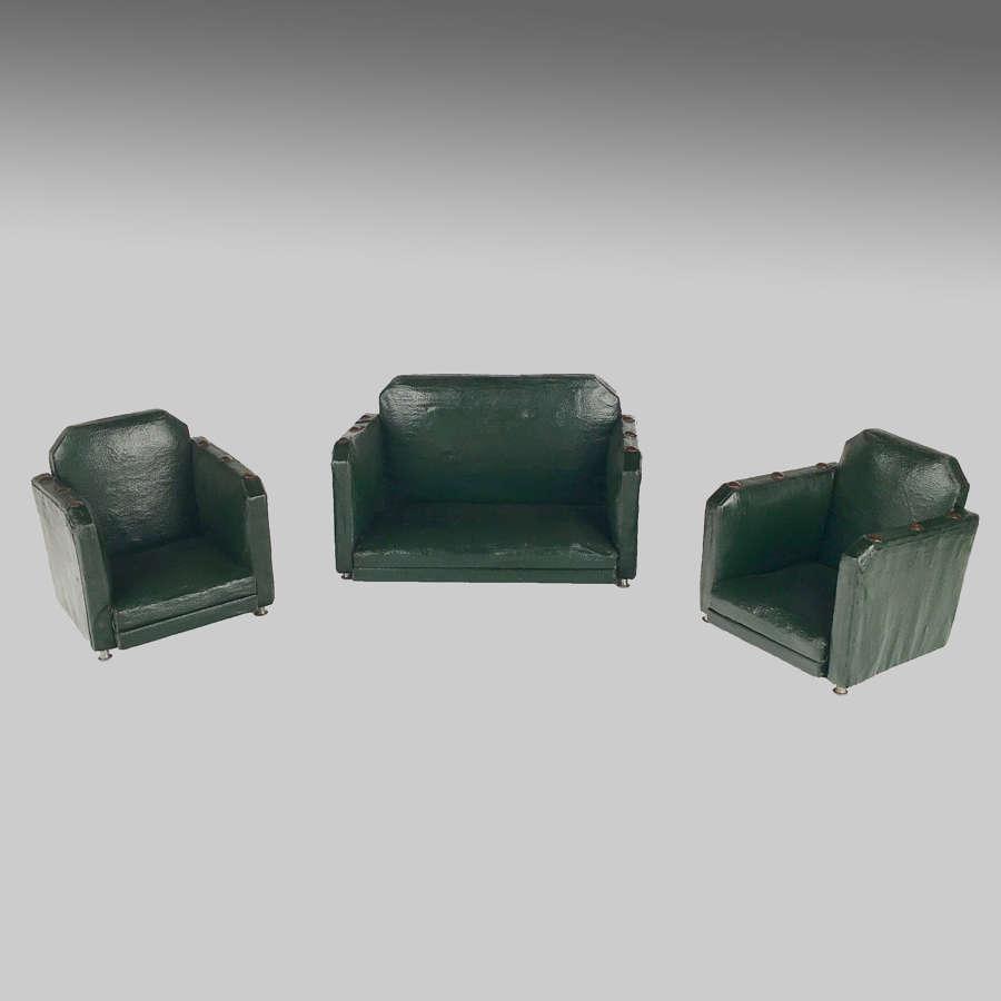 Art Deco trade sample three-piece suite