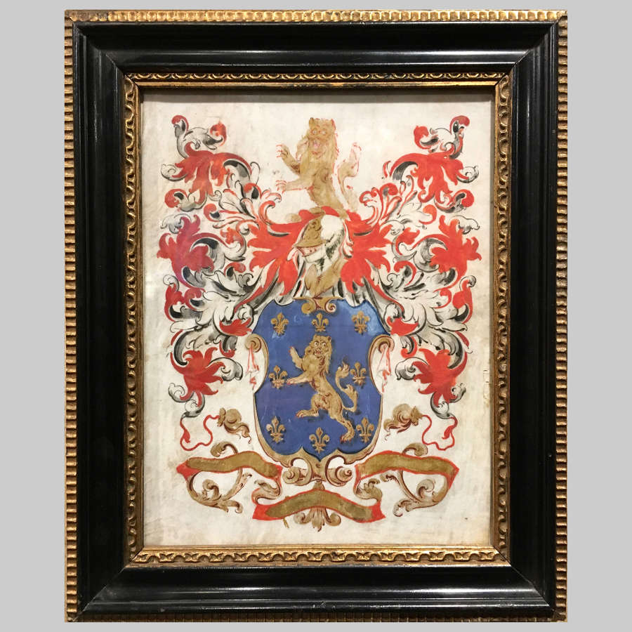 18th century Armorial noble coat of arms