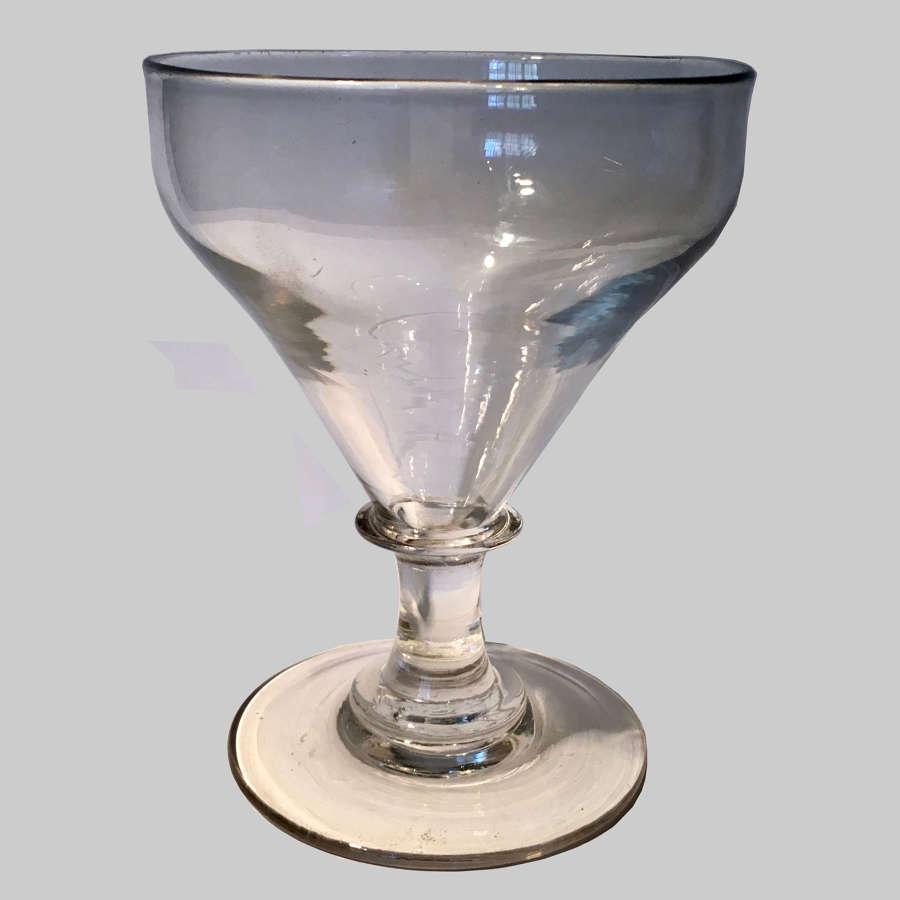 Antique Georgian wine glass