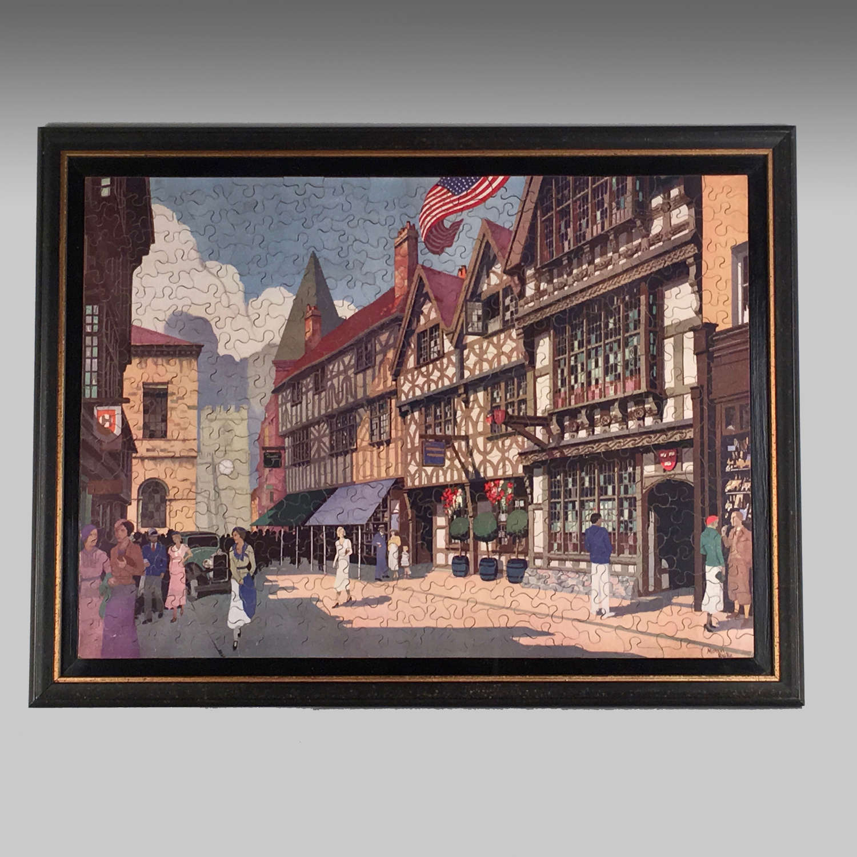 Vintage GWR Jigsaw Puzzle-Harvard House-Stratford-upon-Avon