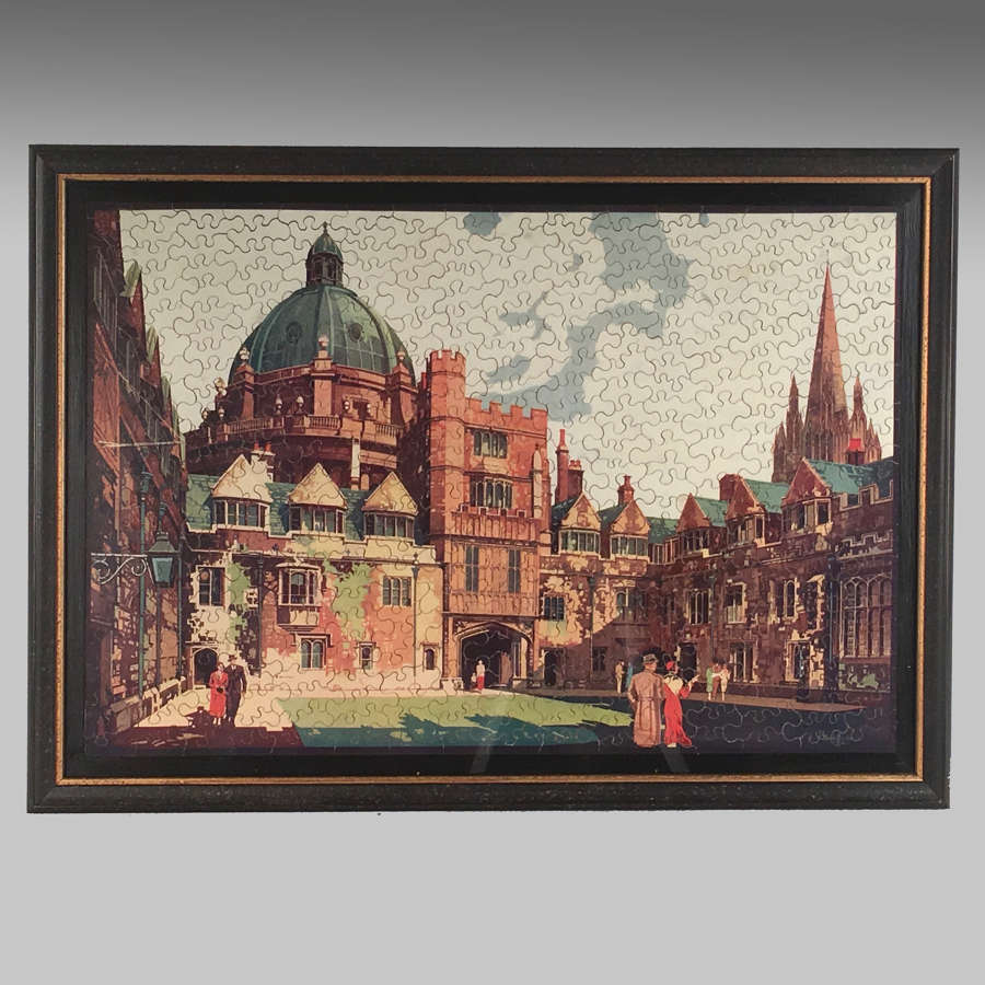 Vintage GWR jigsaw puzzle - Brasenose College, Oxford
