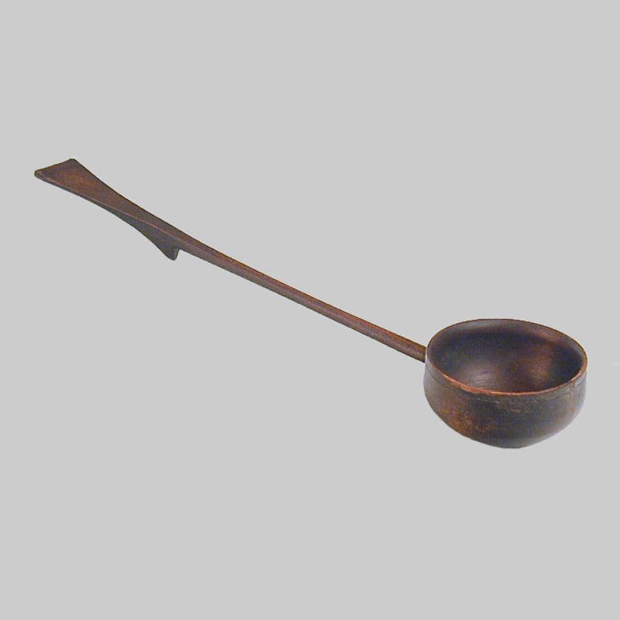 18th century antique treen punch ladle
