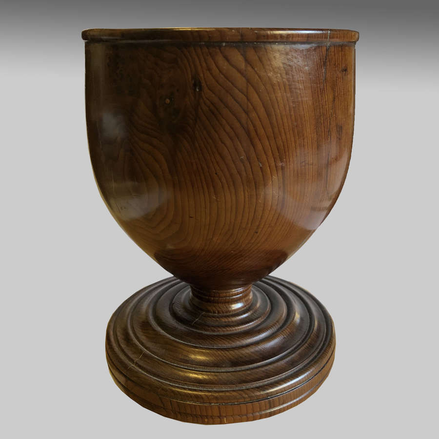 Antique Georgian treen goblet