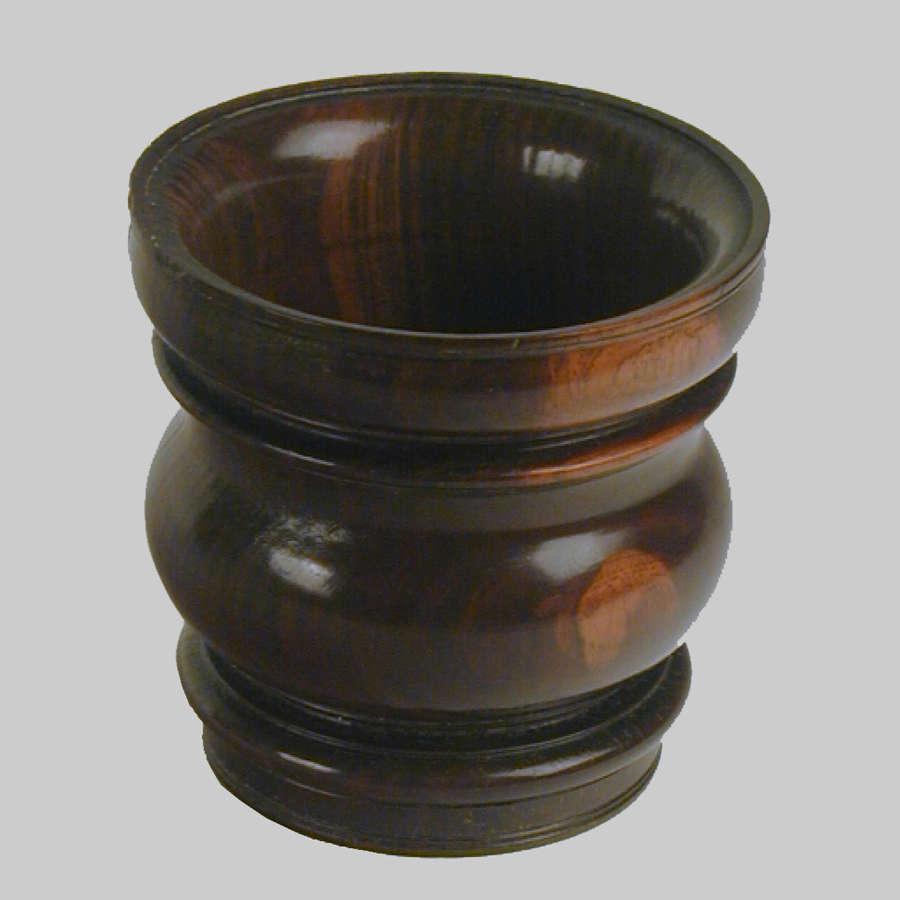 Small 17th century antique lignam-vitae mortar.