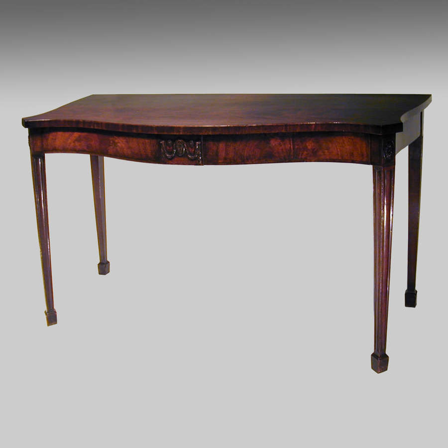 Eighteenth century serpentine mahogany serving table
