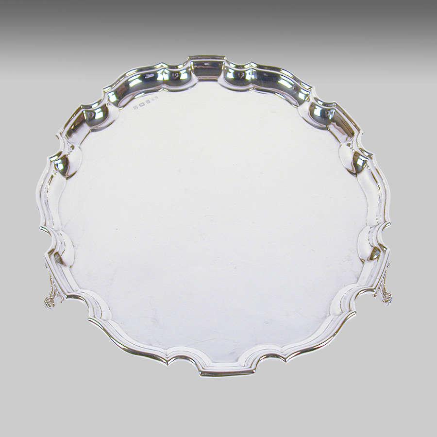 Vintage silver salver