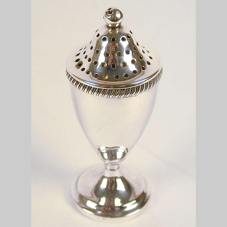 Georgian silver pepper pot