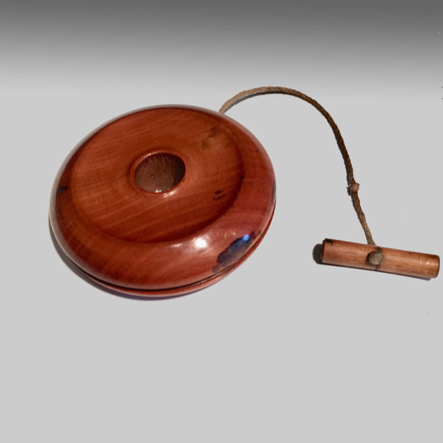 19th century treen fruitwood yo-yo
