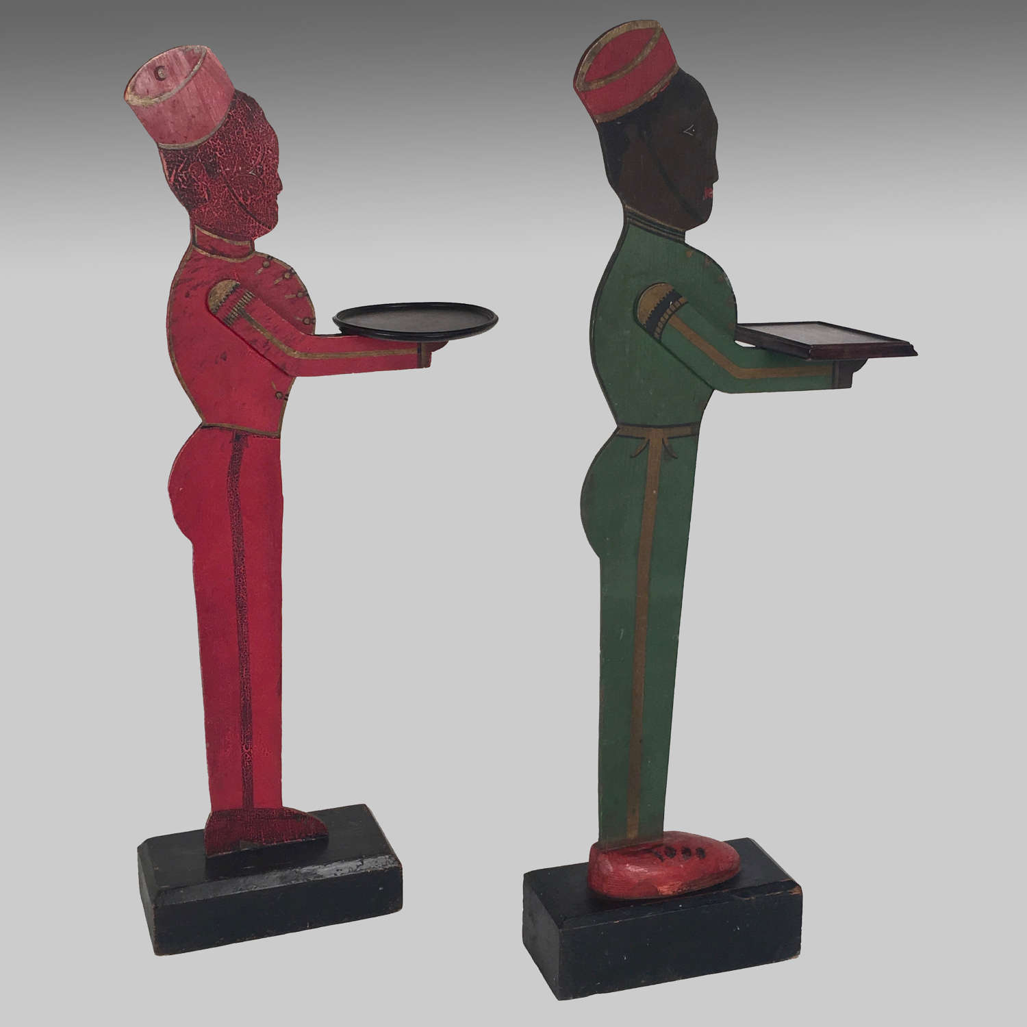 Two Art Deco bell hop dummy boards