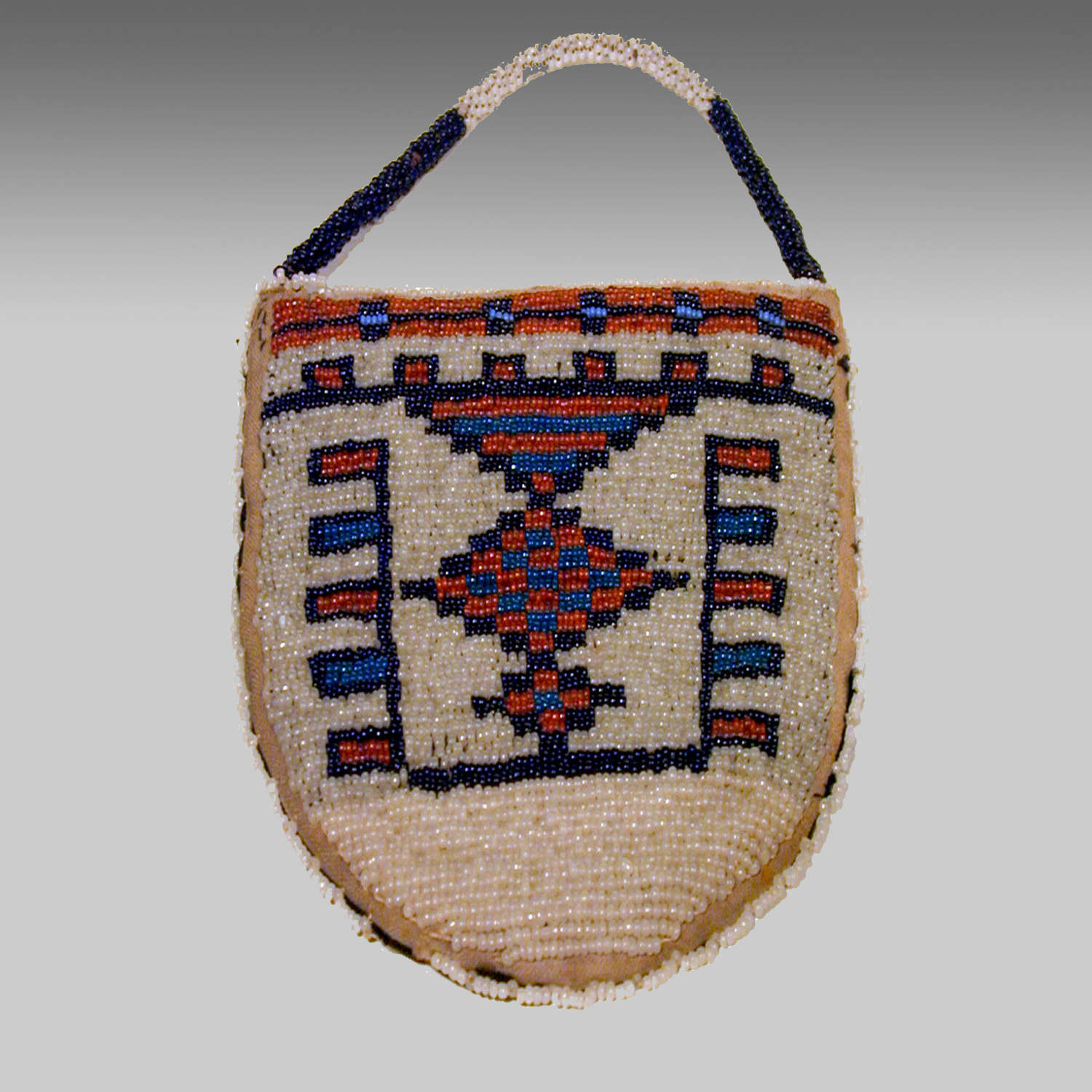 Vintage Native American Plains Sioux beadwork pouch