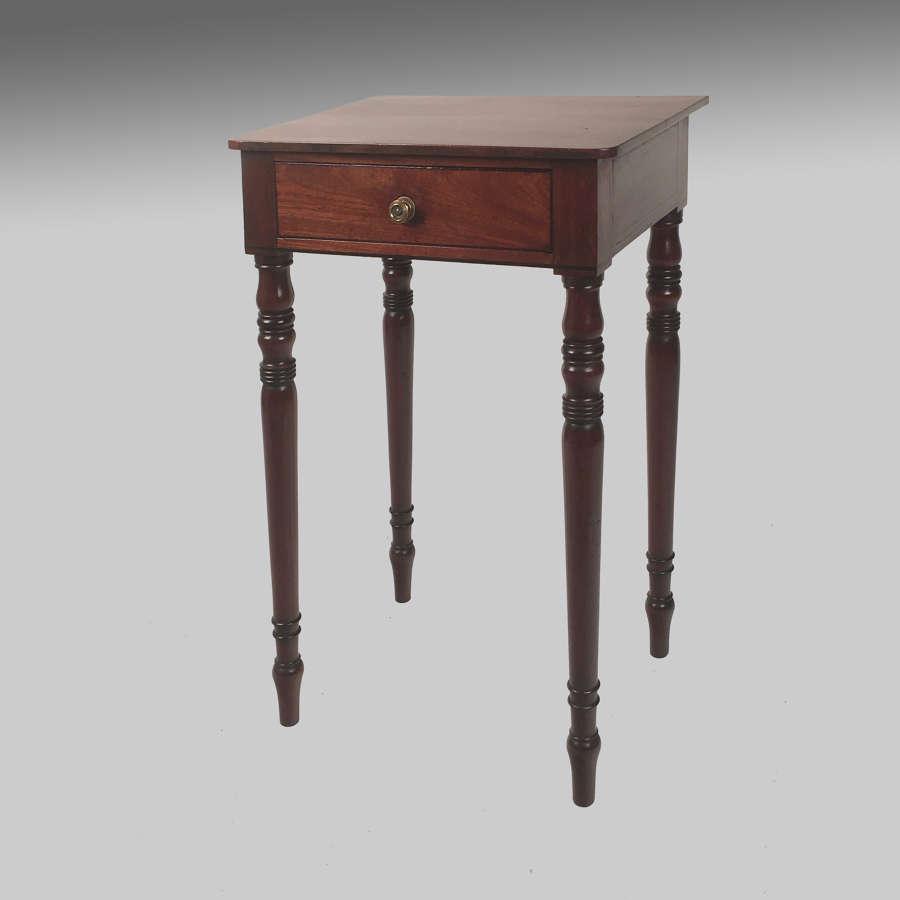 Small Regency mahogany side table