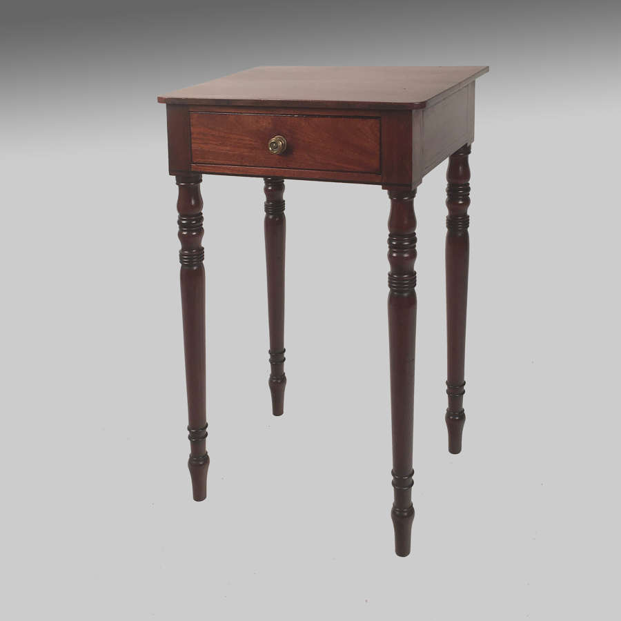 Small Regency mahogany side table