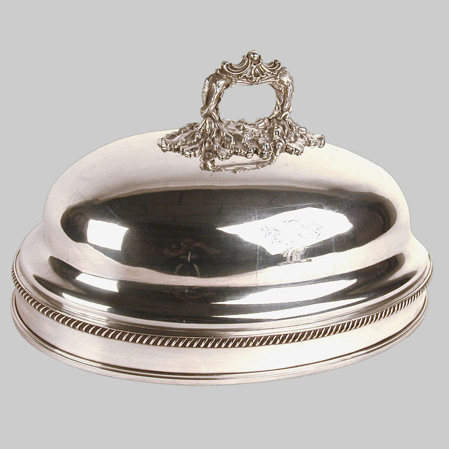 Georgian Sheffield plated charger cover