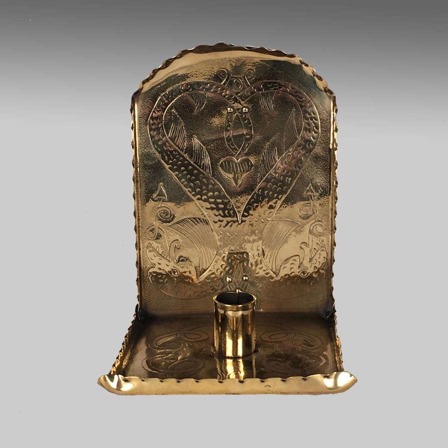 Arts & Crafts brass chamberstick