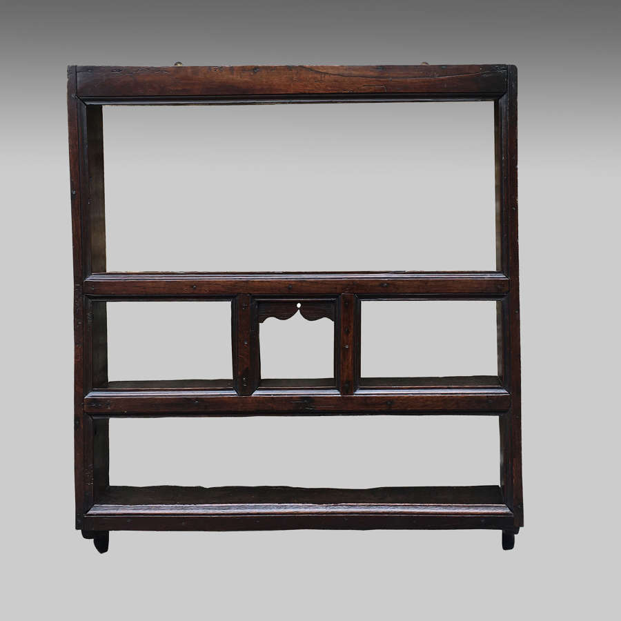 Small 18th century oak Delft rack