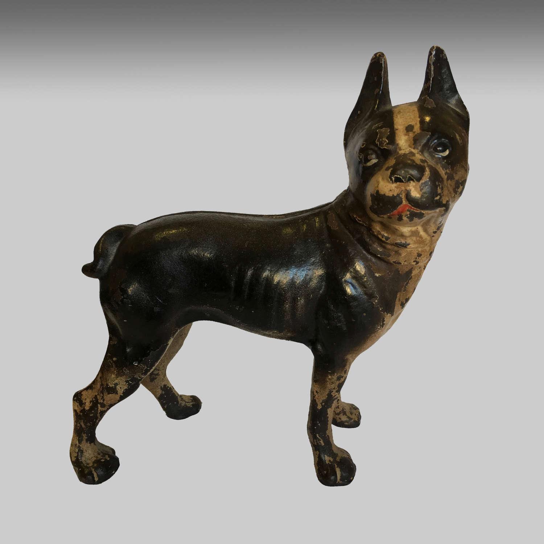 Vintage American 'Hubley' Boston Terrier