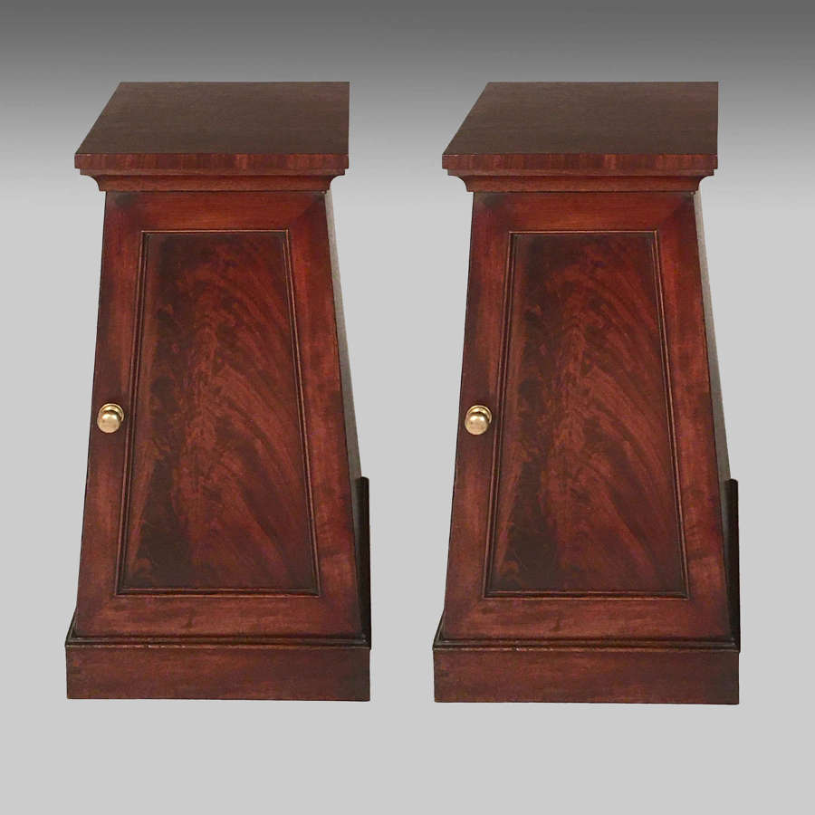 Pair classical Regency mahogany pedestal cabinets