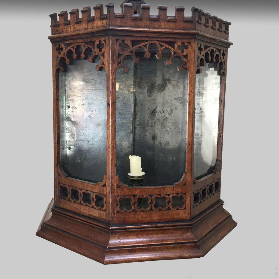 Georgian gothic mahogany hall lantern