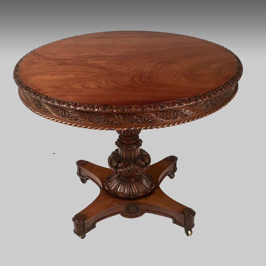 Anglo-Indian rosewood centre table