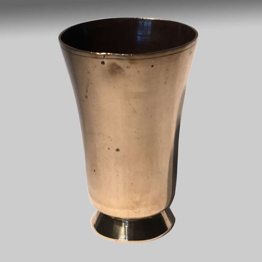 Georgian brass beaker