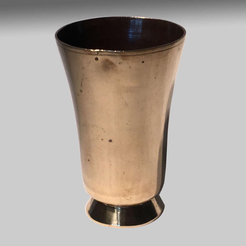 Georgian brass beaker