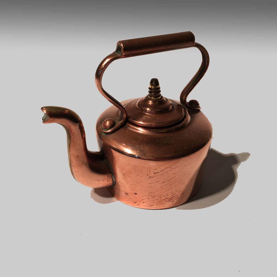 Miniature copper kettle