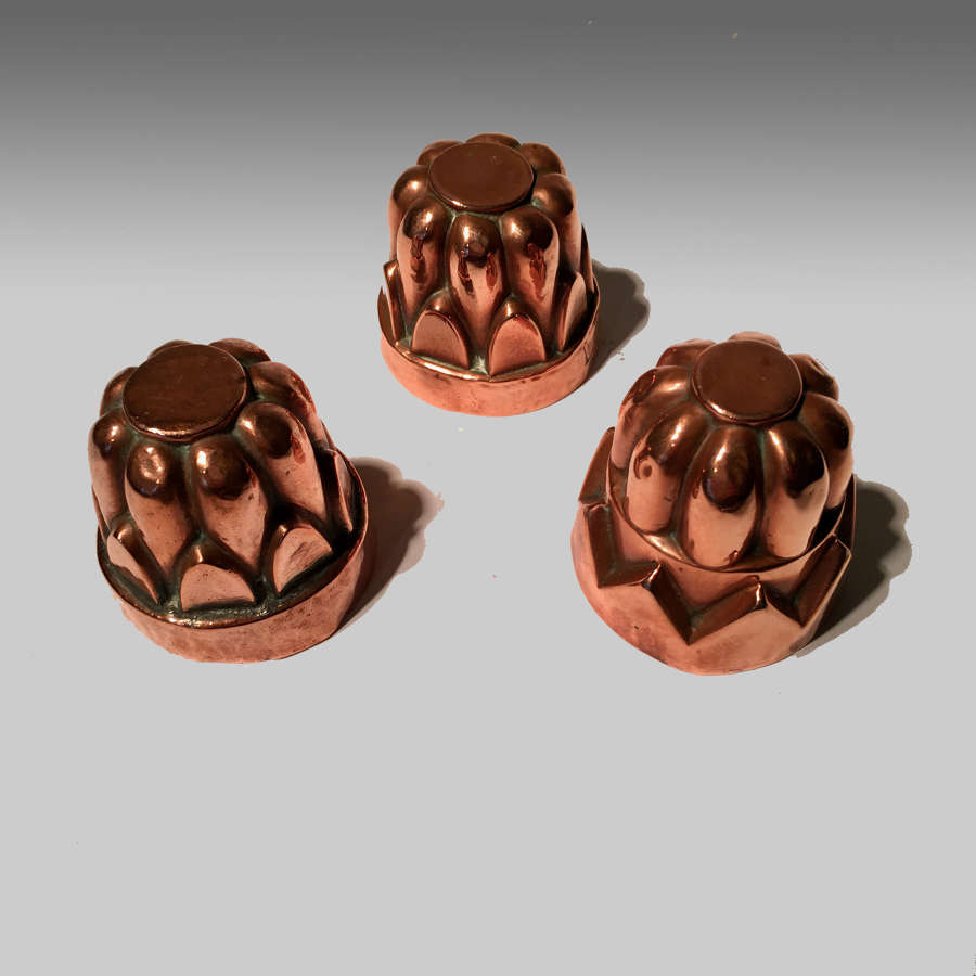 Miniature copper jelly mould