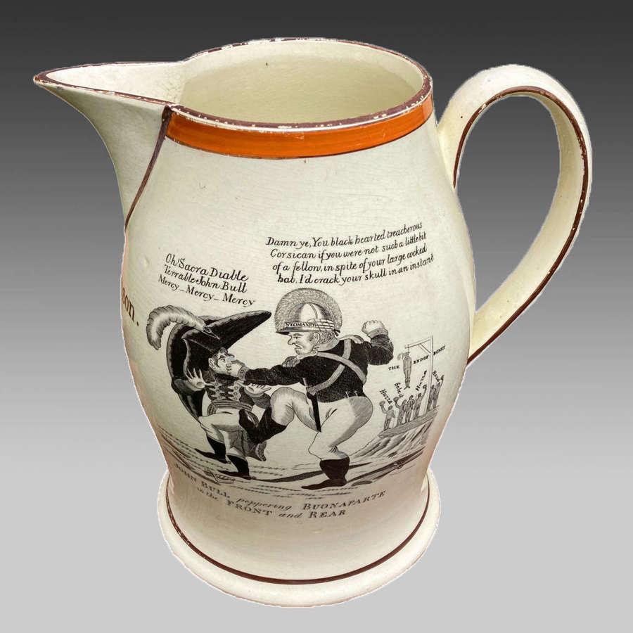 Georgian creamware jug