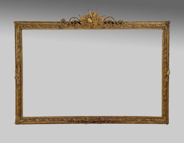 19th century rococo gilt picture frame