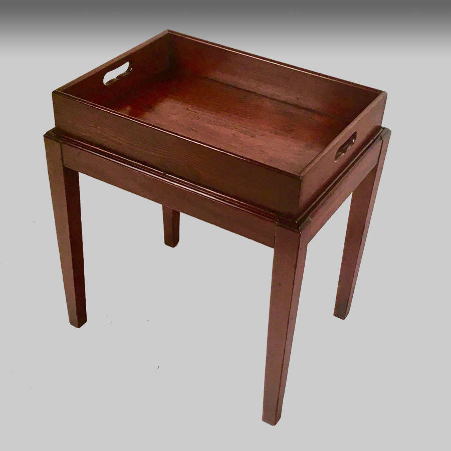Georgian butler's tray on stand