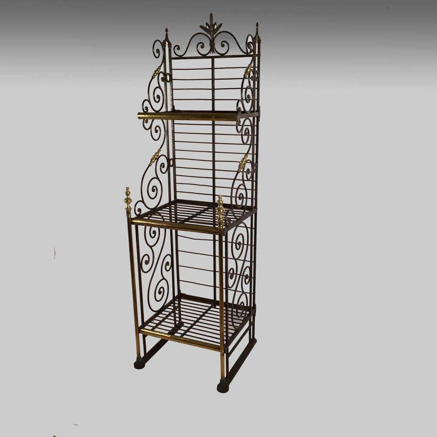 19th century French baker's rack