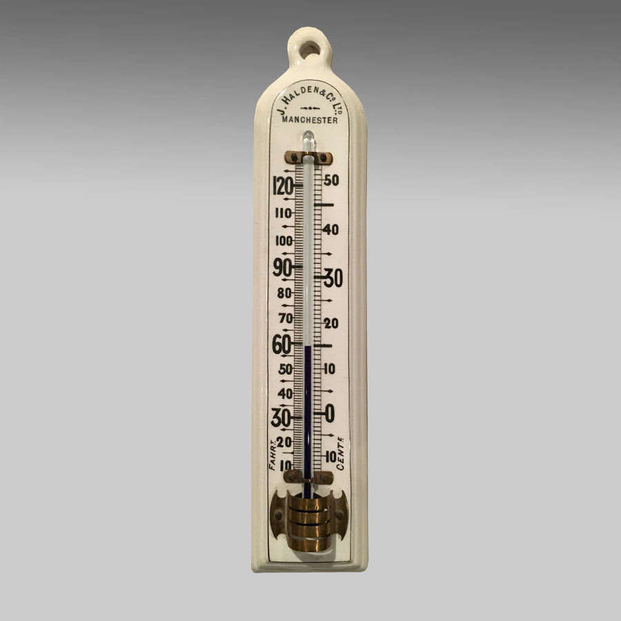 19th century porcelain thermometer