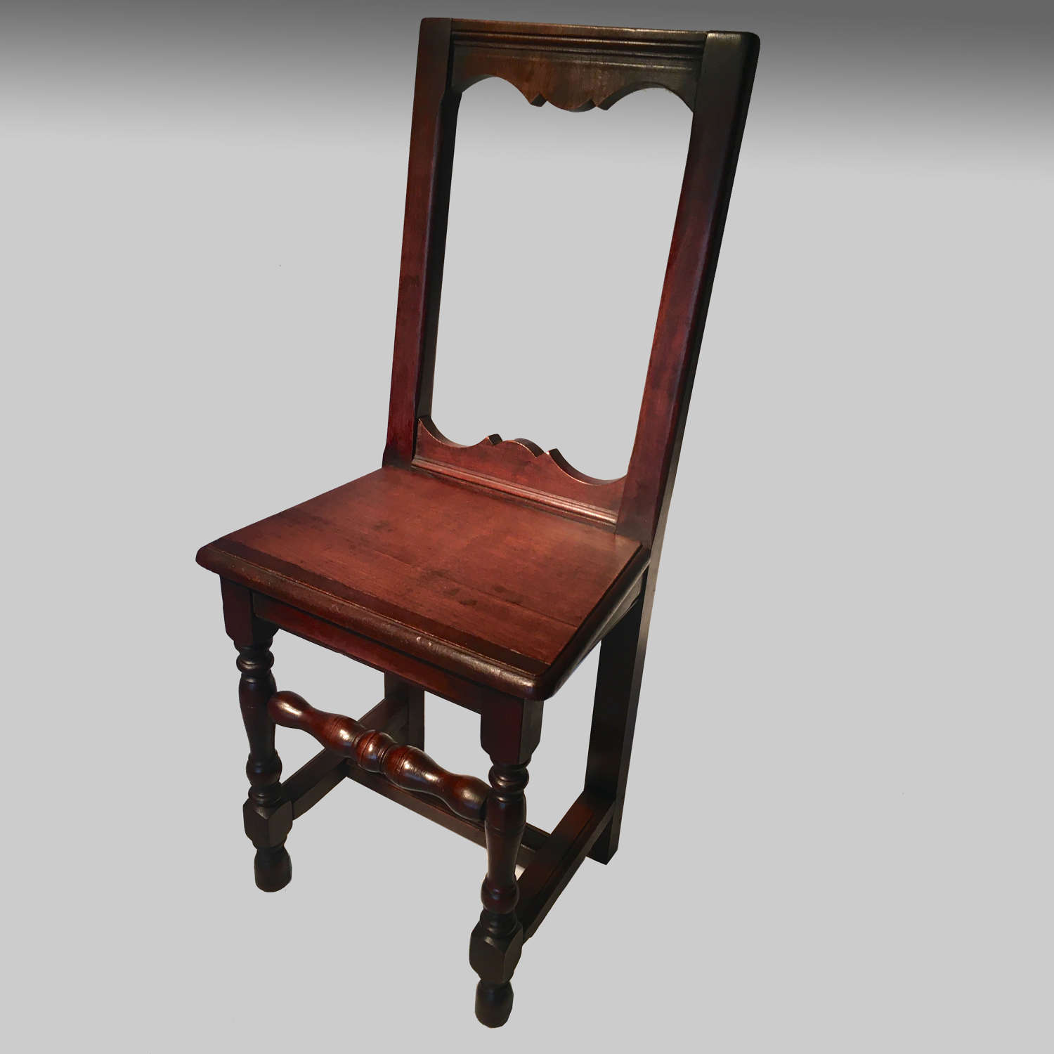 French fruitwood Lorraine child's chair