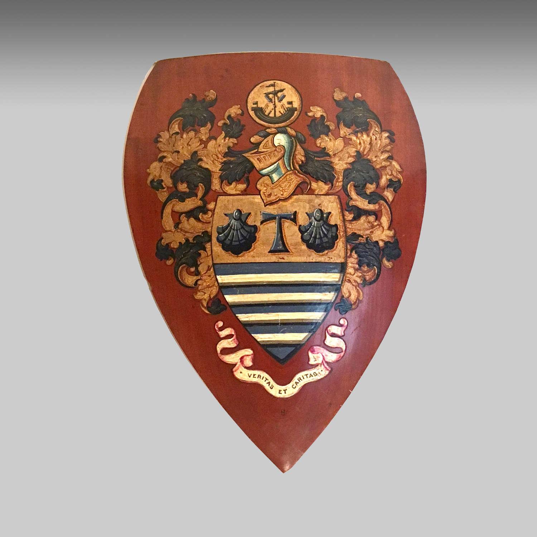 Walnut heraldic armorial shield