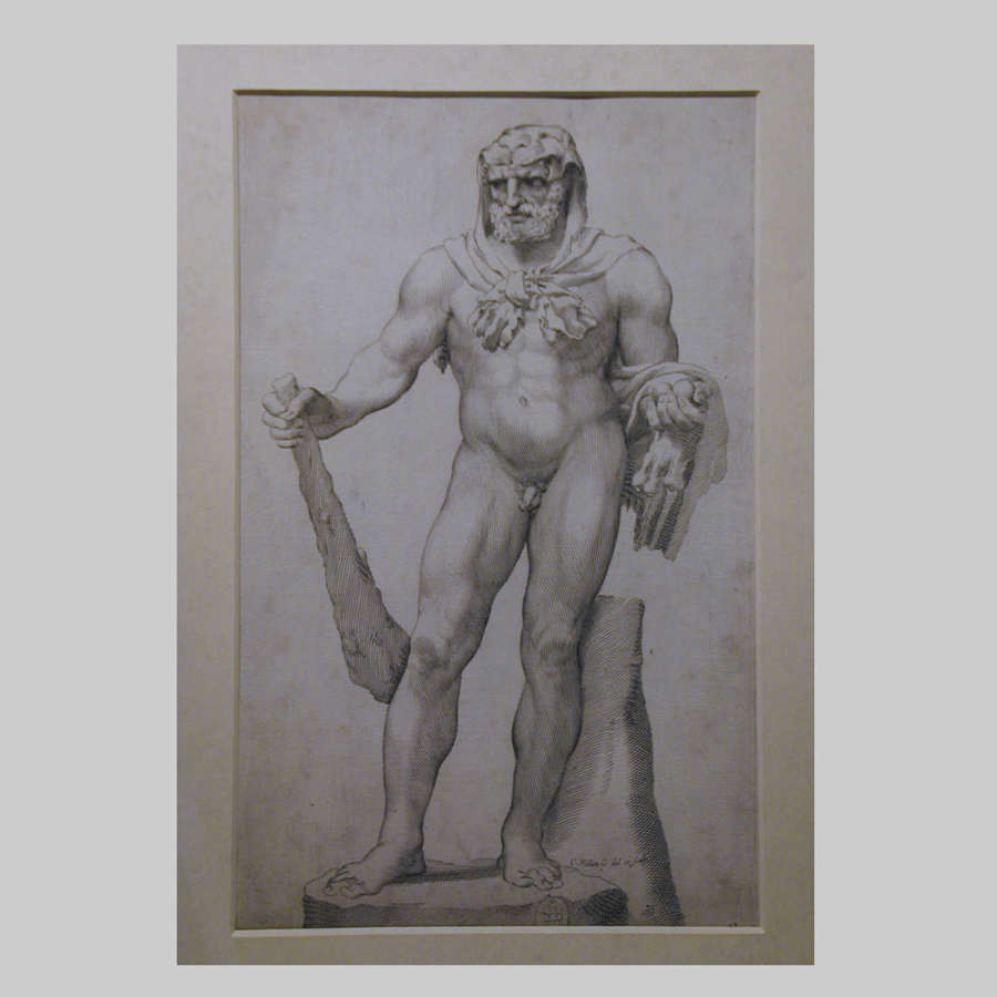 17th century engraving of Bearded Hercules