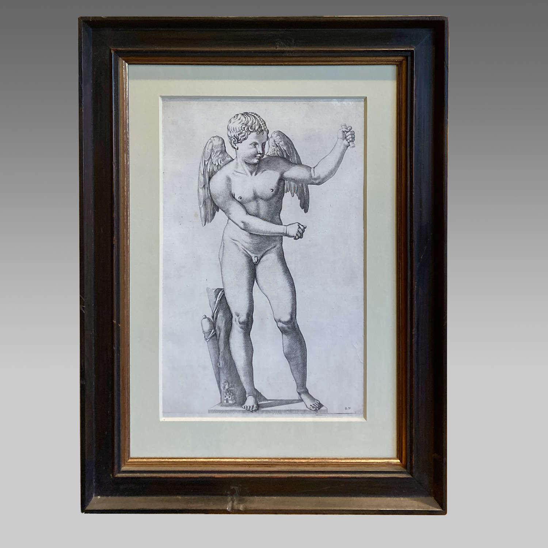 17th century engraving of Eros of Thespiae