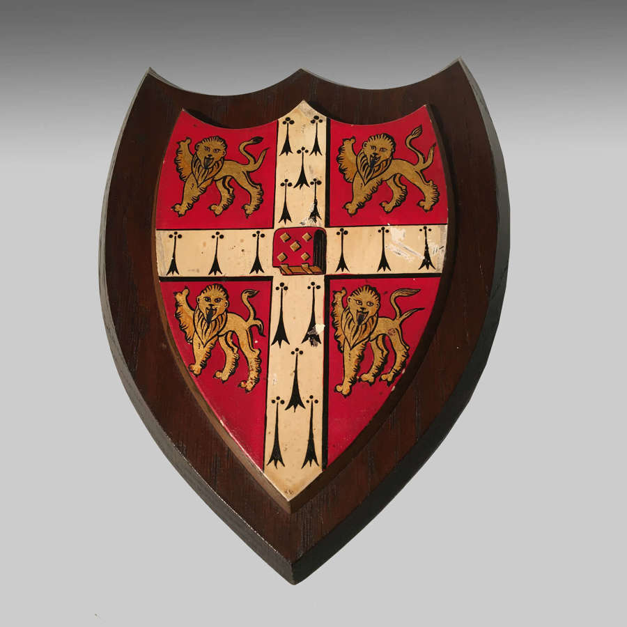 Armorial oak shield-the coat of arms of the University of Cambridge