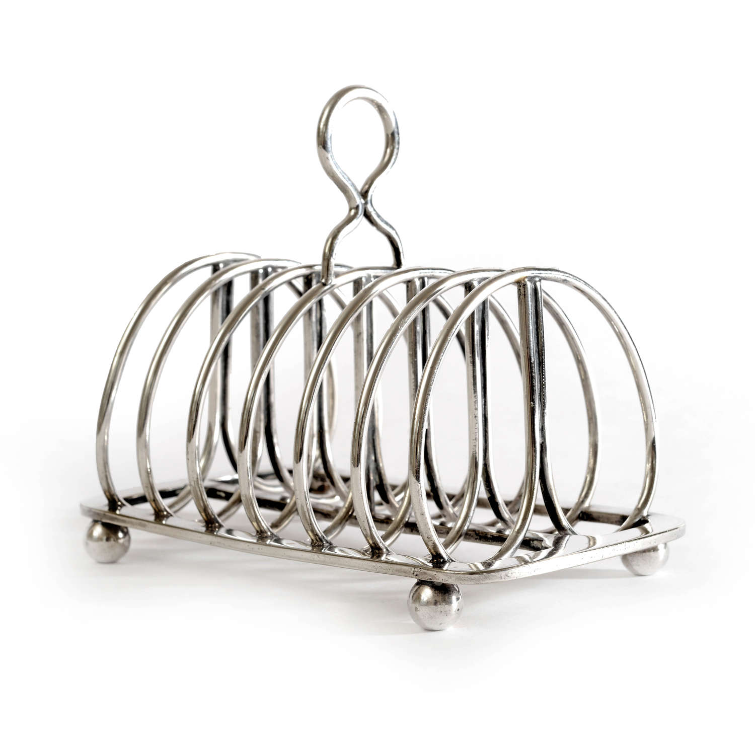 19th century silver plated toast rack