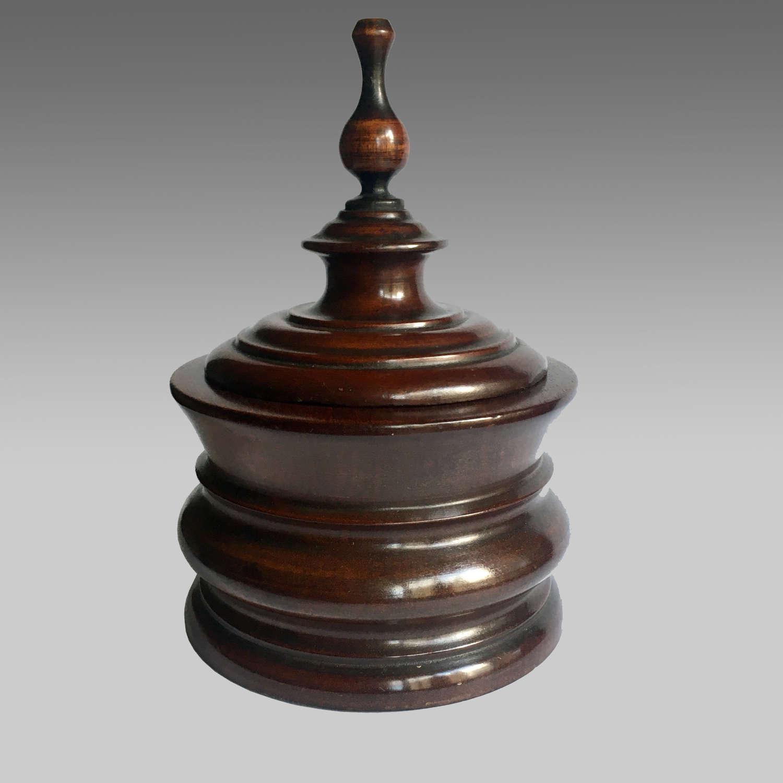 19th century Dutch mahogany table tobacco box