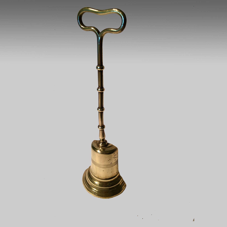 Georgian cast brass doorstop