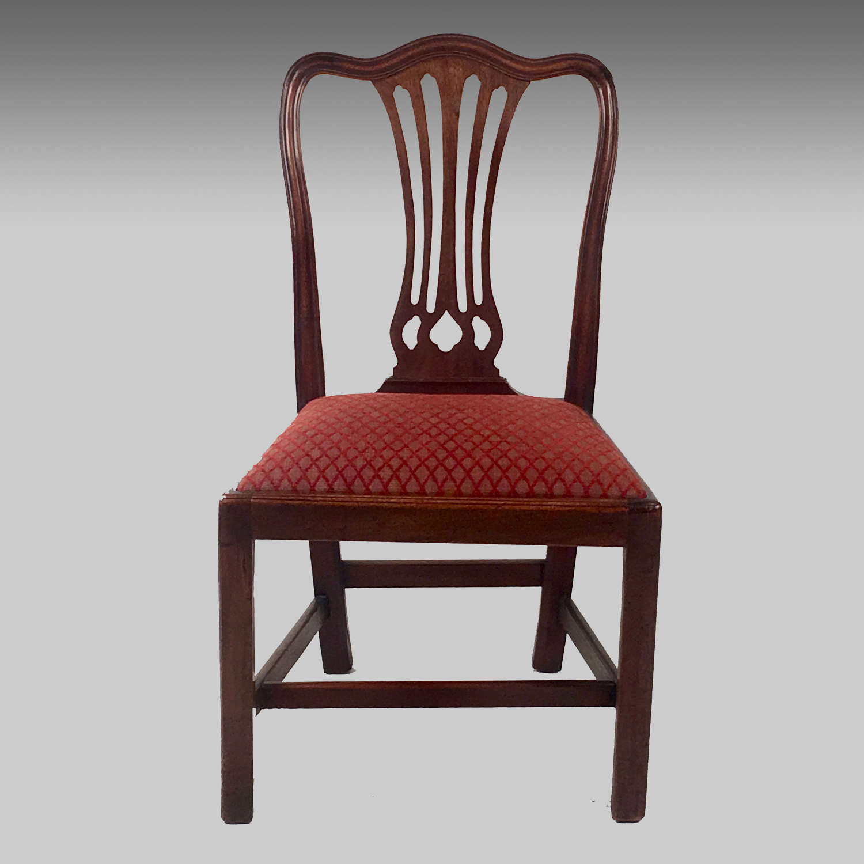 Georgian mahogany single chair