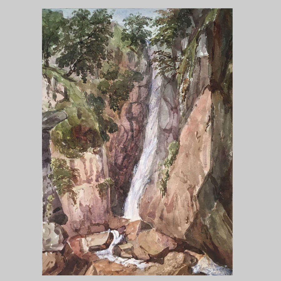 19th century watercolour-Scale Force attb. The Hon Georgiana Rushout
