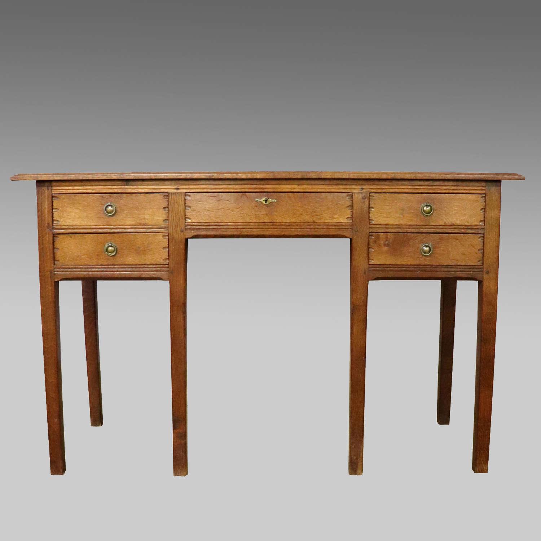English oak Gordon Russell 'Lygon' dressing table